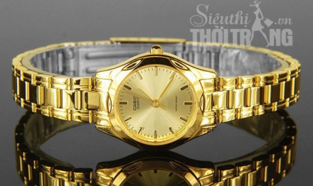 Đồng hồ nữ cao cấp Casio Full Gold Lady