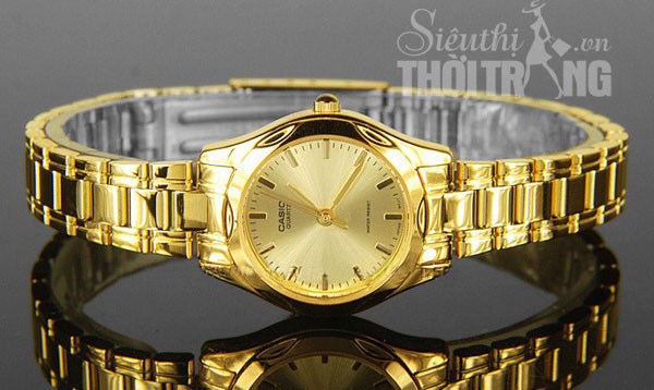 Đồng hồ nữ Casio Full Gold Lady cao cấp 2015