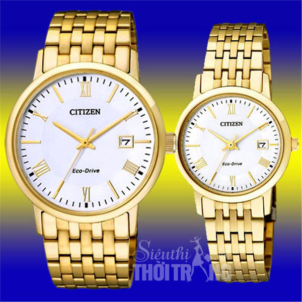Đồng hồ nữ cao cấp Citizen Eco-Drive Full Gold Lady