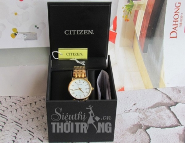 Đồng hồ nam cao cấp Citizen Eco-Drive Full Gold